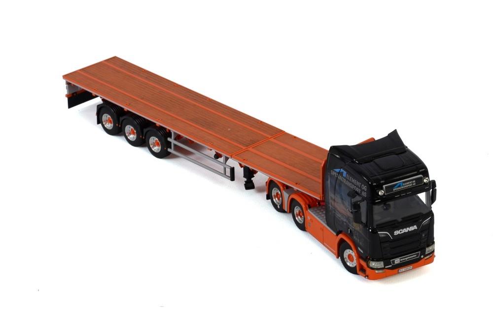 Scania R Highline CR20H Flatbed  Element og Spesialtransport AS