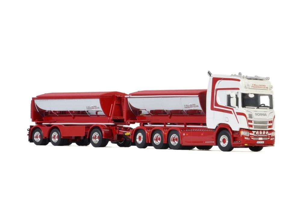 Scania R Highline CR20H Hooklift System Asphalt Killingmo Freses