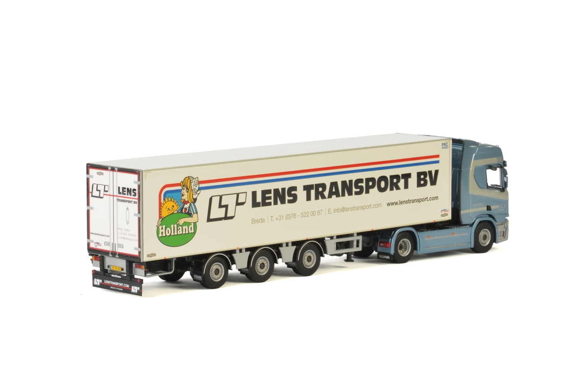 Scania R Highline CR20H Kuehlauflieger Lens Transport