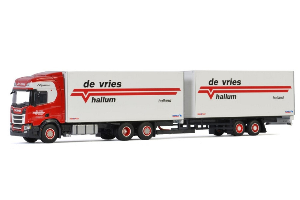 Scania R Highline CR20H  Riged Box Combi  De Vries Hallum