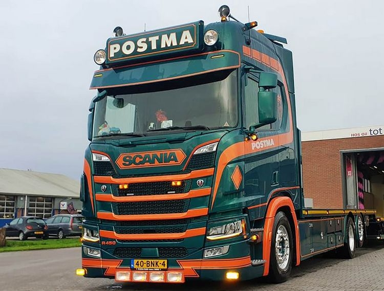 Scania R Highline CR20H  Riged Flat Bed Truck Postma