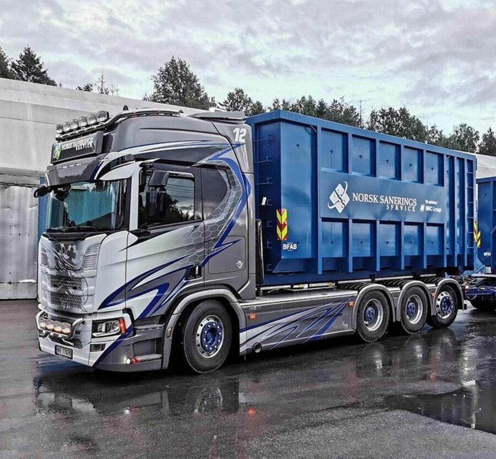 Scania R Highline CR20H Riged Hooklift System  Norsk Saneringsse