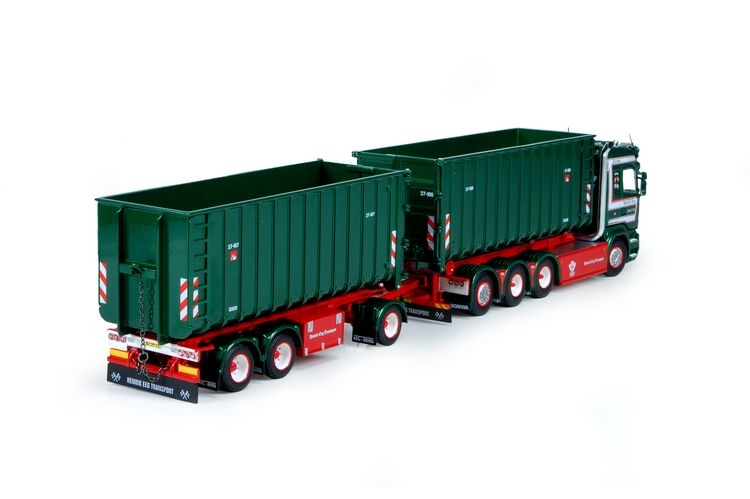 Scania R Highline hookarm container trailer Eeg Henrik