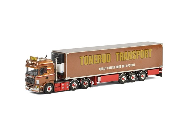 Scania R Highline Kuehlauflieger Tonerud Transport