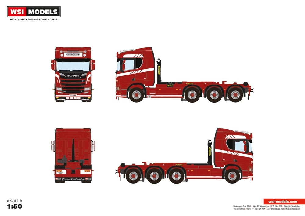 Scania R Normal CR20N  Hooklift System  Premium Line