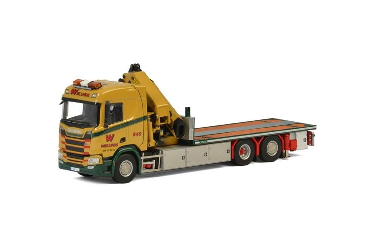 Scania R Normal CR20N Riged Flatbed  Wiklunds Akeri AB