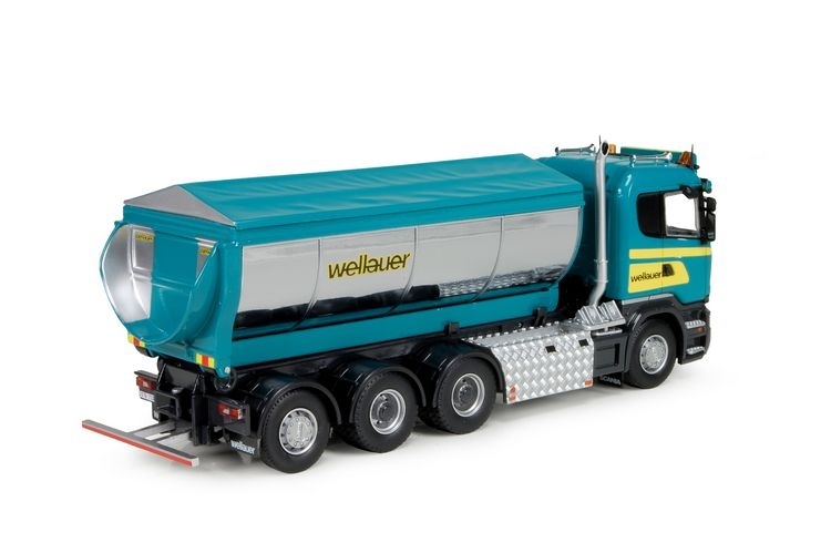 Scania R rigid truck hookarm Asphalt Container Wellauer