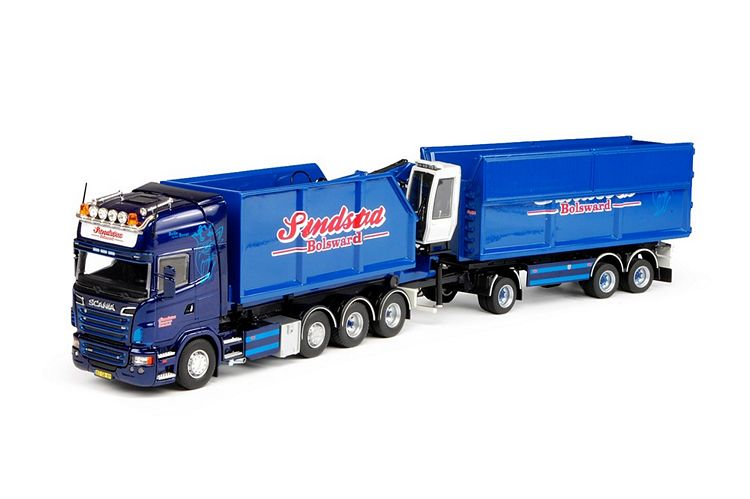 Scania R-serie combi  Container loglift Sandstra