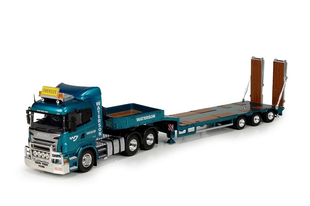 Scania R serie Goldhofer semi tieflader Waterson