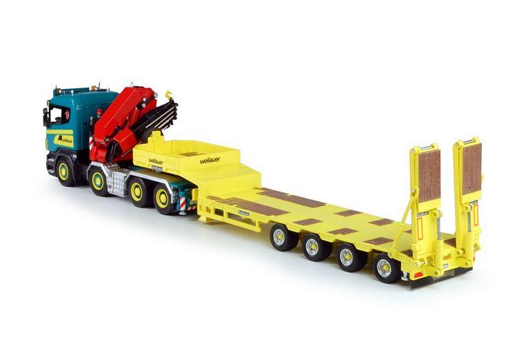 Scania R-serie HIAB kran semi-Tieflader Wellauer