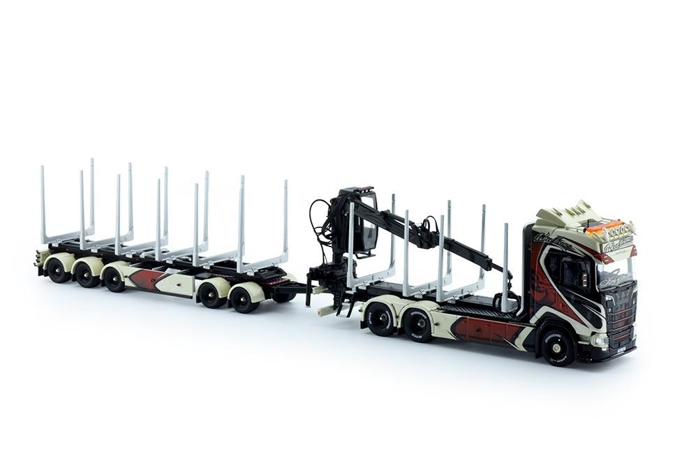 Scania R-serie Highline Schwedischer Holzwagen Woodtrans