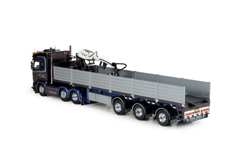 Scania R-Serie Highline Steinauflieger Salari Edwin