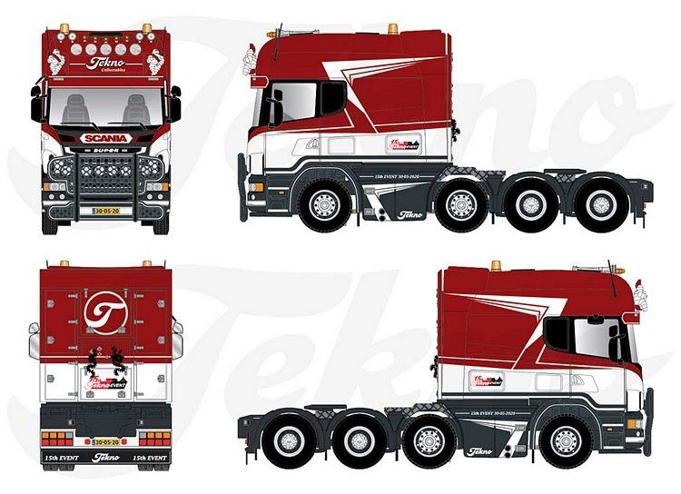 Scania R-serie Longline 8x4 Tekno Event 2020