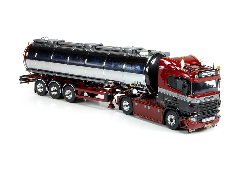 Scania R serie lowline tankauflieger Transportbrug