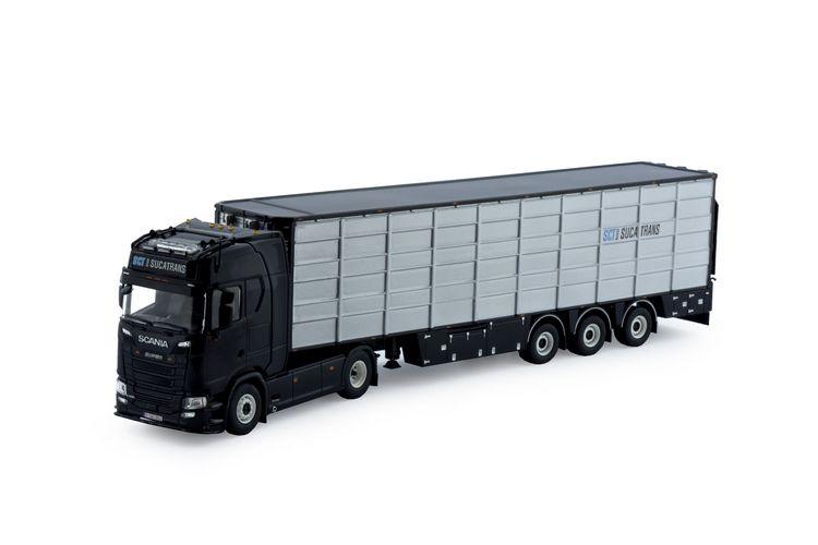 Scania R-Serie  Resin Flachviehauflieger  Sucatrans