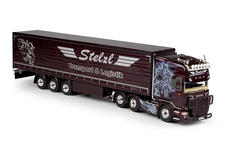 Scania R-serie  Schiebeplanen-Auflieger Stelzl