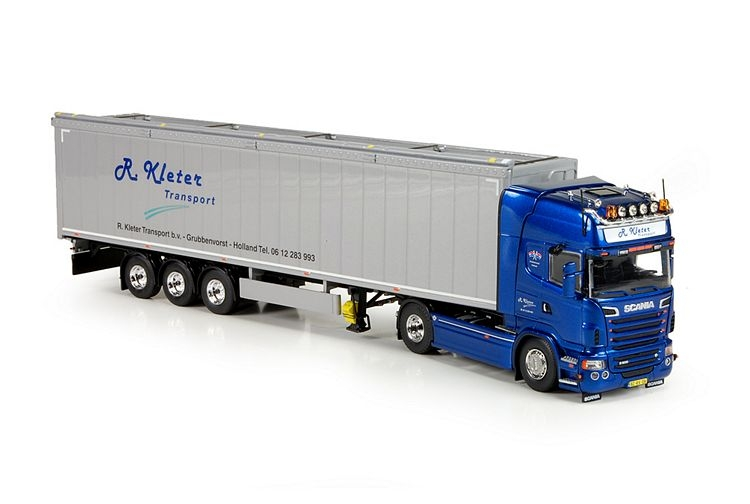 Scania R serie Topline Cargo floor trailer Kleter