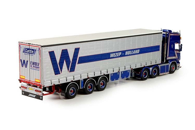 Scania R serie Topline curtainsidetrailer Wolf
