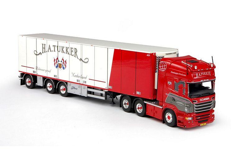Scania R-serie Topline Kühlauflieger Tukker H.A.