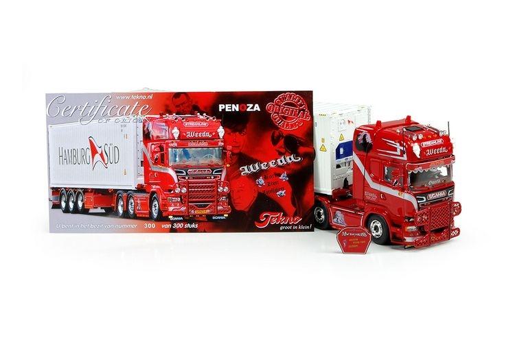 Scania R serie Topline Kuehl container Weeda