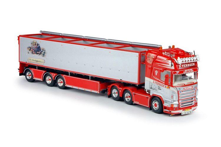 Scania R serie Topline mit Kartoffeln Auflieger   Verbeek  S