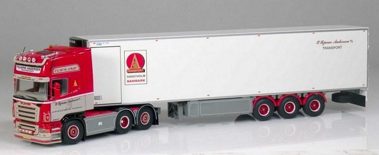 Scania R serie Topline mit Kühlauflieger  Andersen P  Bjarne