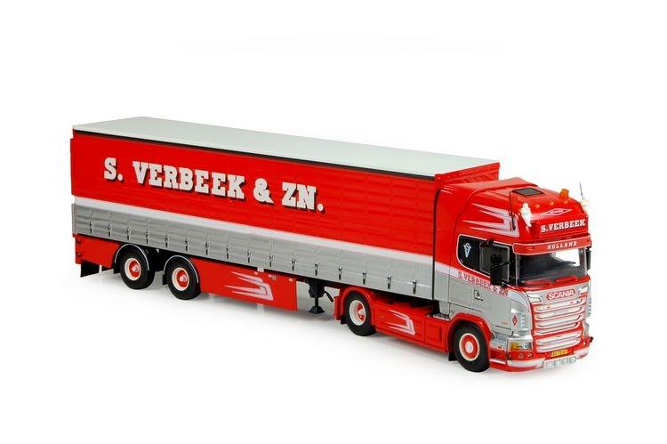 Scania R serie Topline Schiebeplanen Auflieger Verbeek S