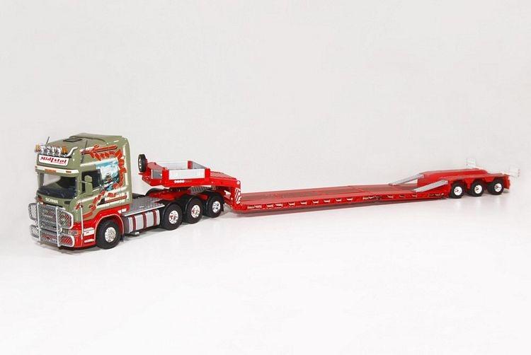 Scania R-Serie Topline Semi Tieflader Midtstol