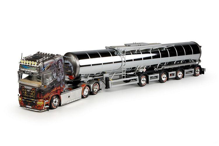 Scania R Serie Toplinemit langen Tankauflieger TDL