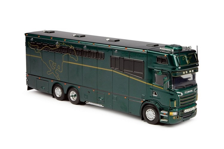 Scania R Serie Topsleeper Pferdetransporter grün