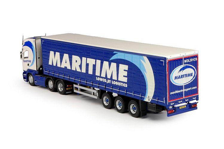 Scania R-Streamline Topline Schiebeplanen Maritime