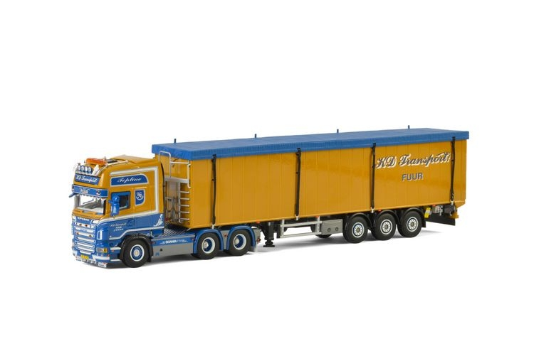 Scania R Topline Schubbodenauflieger  KD Transport