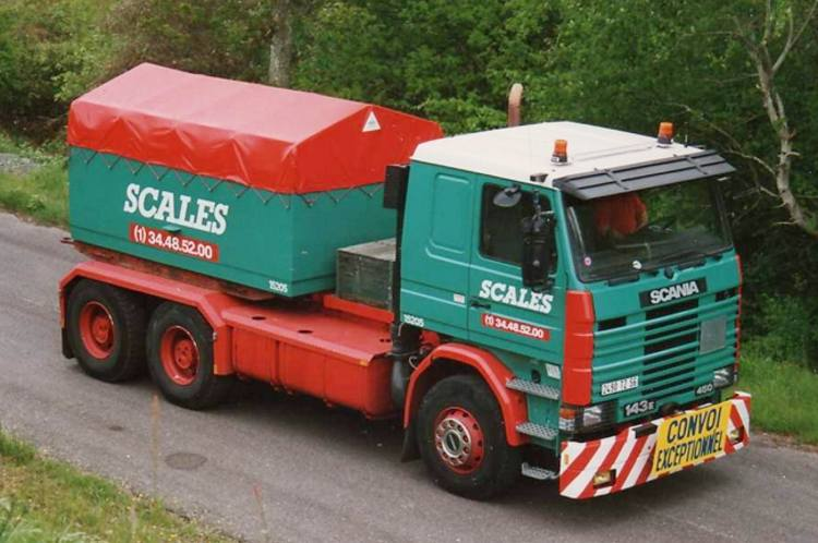 SCANIA R113/R143 Ballastbox mit Cover Scales