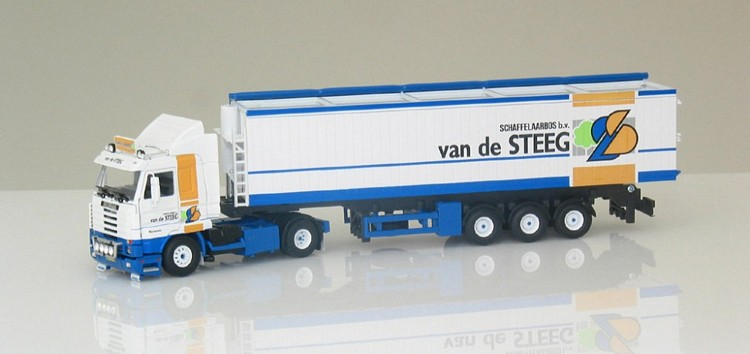 Scania R143 Streamline mit  Auflieger    Steeg Gebr Van der