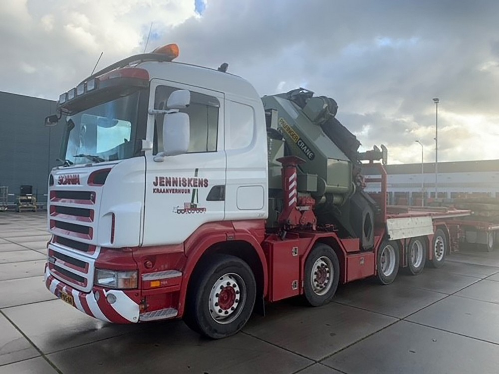 Scania R5 Flat  Palfinger PK 150002 SH  JIB   Jenniskens Kraanve
