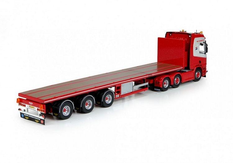 Scania R500 Next Gen 6x2 Flatbed trailer Exalto Eljo
