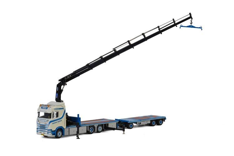 Scania S  CS20N Flatbed combi  Palfinger 74002 Bremer