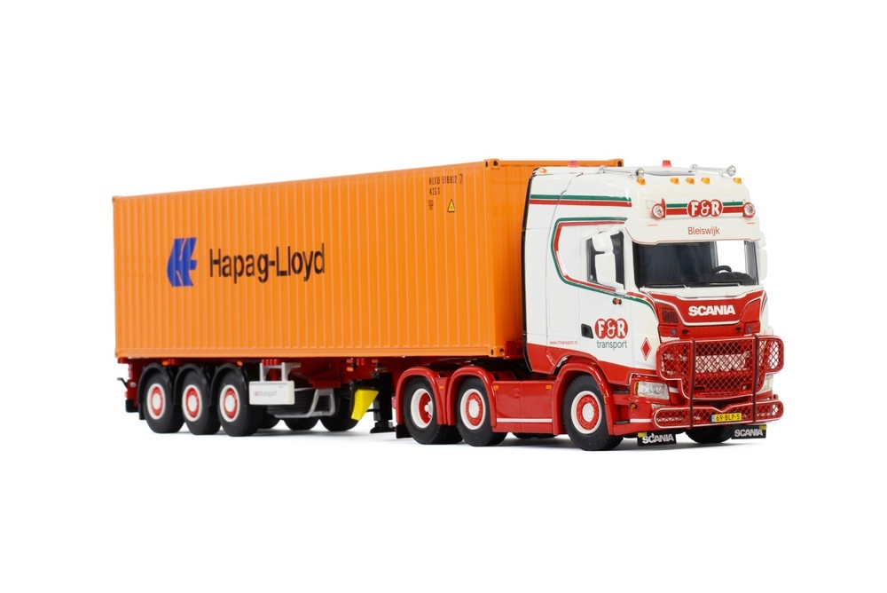 Scania S Highline CS20H Container auflieger  F&R Transport