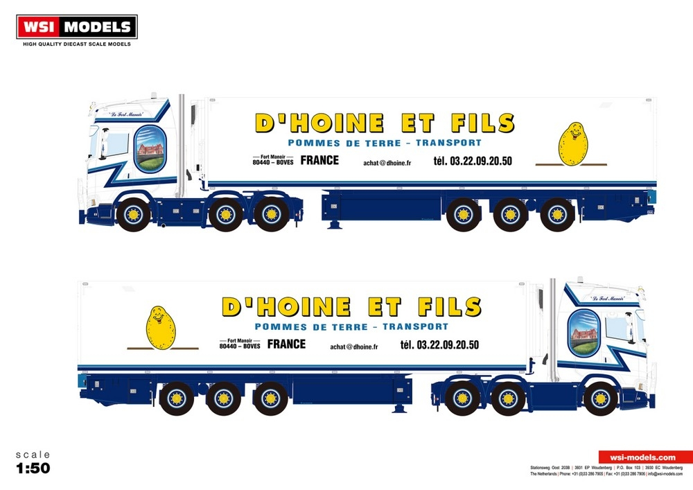 Scania S Highline CS20H Reefer Trailer   D Hoine