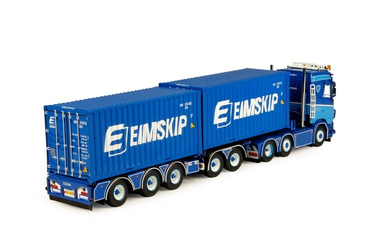 Scania S Serie 5 achs Containerchassis Visser P