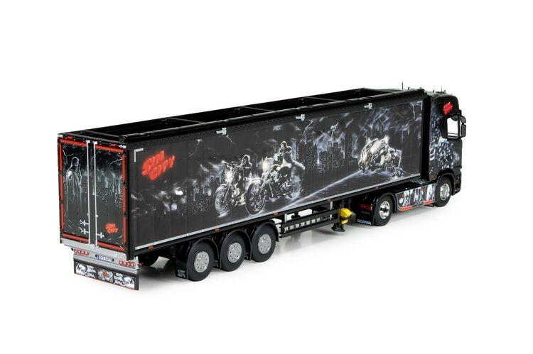 Scania S-serie  Cargo floor trailer Repinski  Sin City