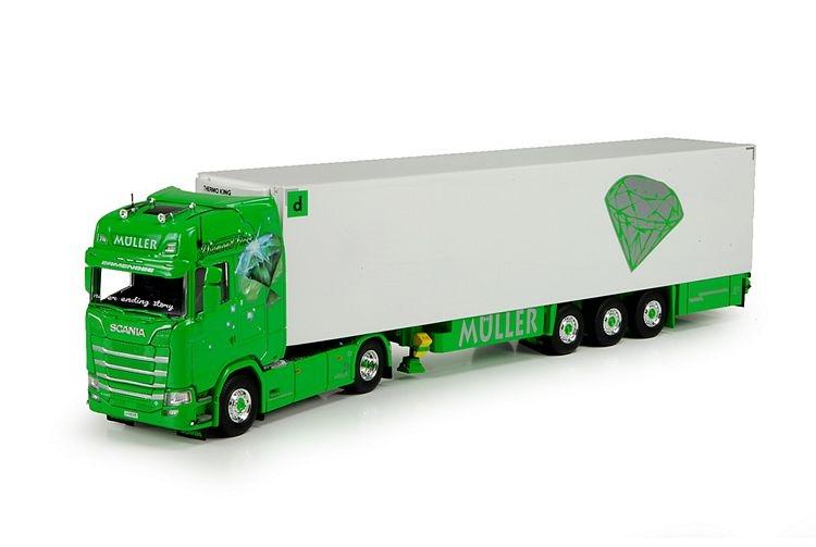 Scania S serie Highline Kuehlauflieger Muller