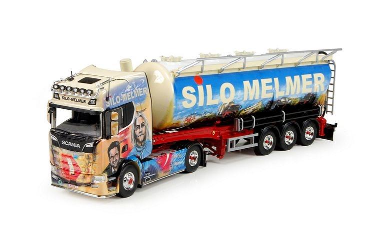 Scania S serie Highline  silo auflieger Melmer
