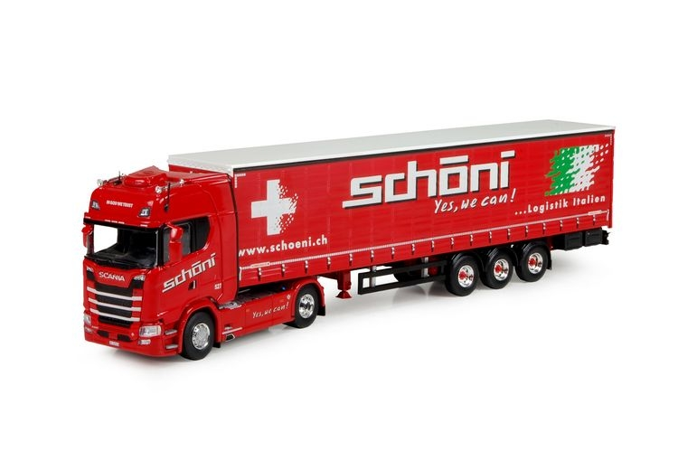 Scania S-Serie Highlinet Kuehlauflieger Schoni