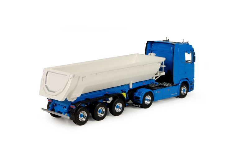 Scania S-serie  Meiller kipper Blue white