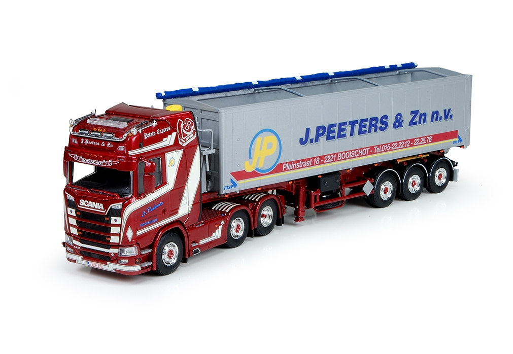 Scania S730 6x2  Stas kipper Peeters