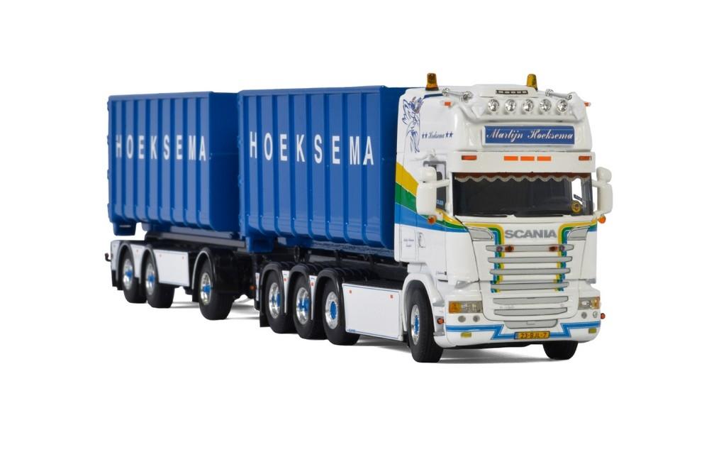 Scania Straemline Riged Drawbar Hooklft Container  Hoeksema
