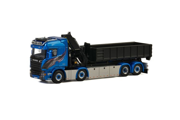 Scania Streamline Highline Palfinger Hook Lift Blue Shine