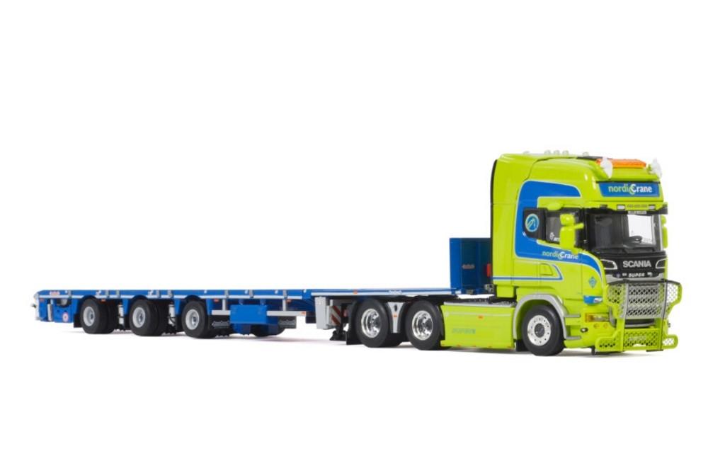 Scania Streamline  Megatrailer Flatbed  Nordic Crane