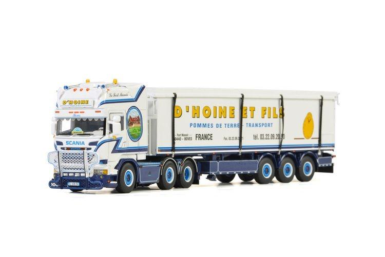 Scania Streamline Topline Belt Trailer 3 axle  D Hoine
